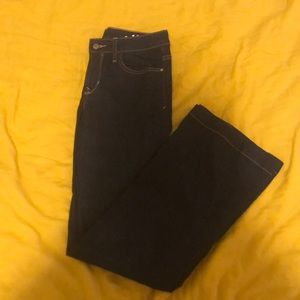 Mid rise flare stretch gap jeans